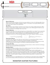 Monster Hunter reference sheet