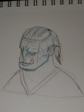 Ancient: picture of a wrinkly orc.